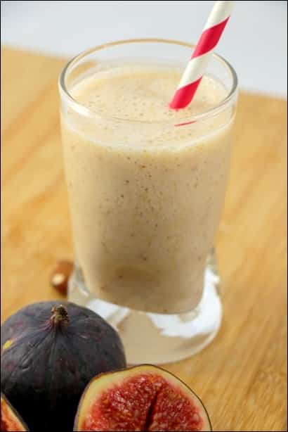 smoothie lait d'amande figue