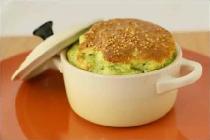 soufflé au brocoli et parmesan