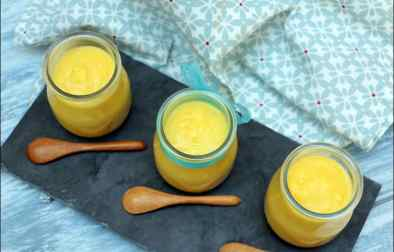 soupe froide de courgettes jaunes au citron confit safran et ricotta