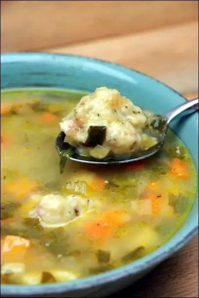soupe dumplings recette