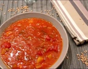 soupe de tomates à l'épeautre