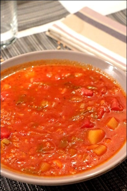 soupe tomate epeautre