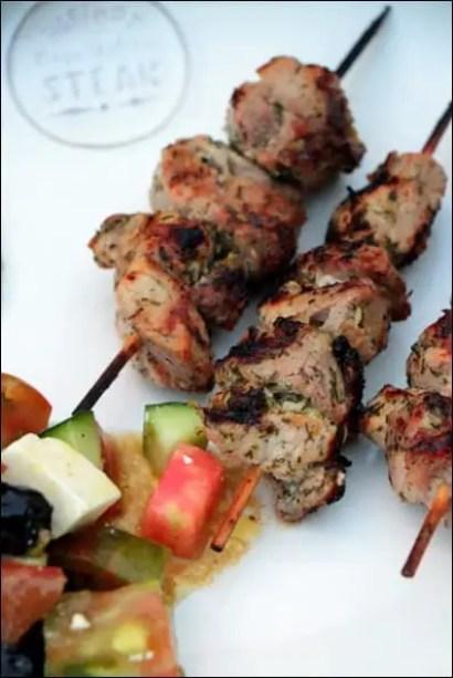 recette brochette porc grec