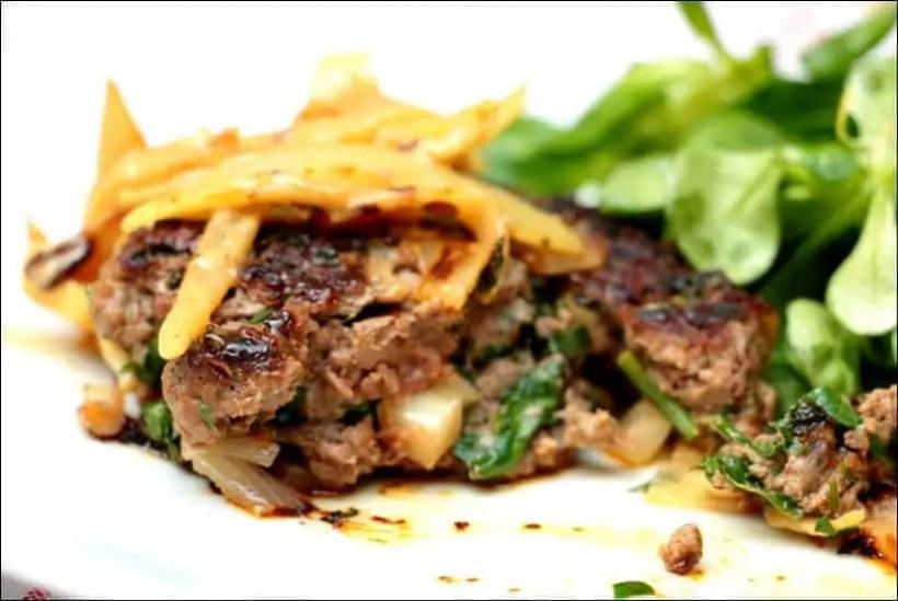steak haché oignons cumin paprika