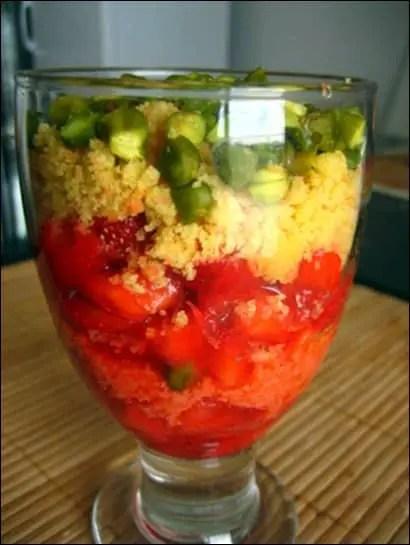 recette tartare de fraises pistaches et sablés