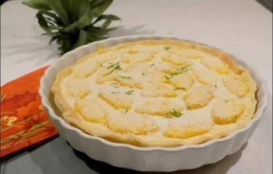 tarte à l'ananas et noix de coco
