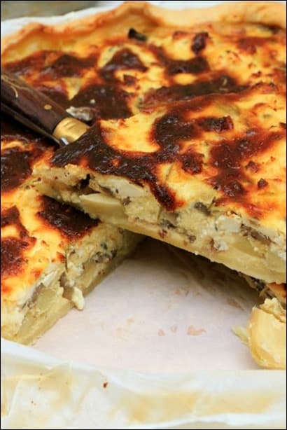 tarte aux artichauts poivrade