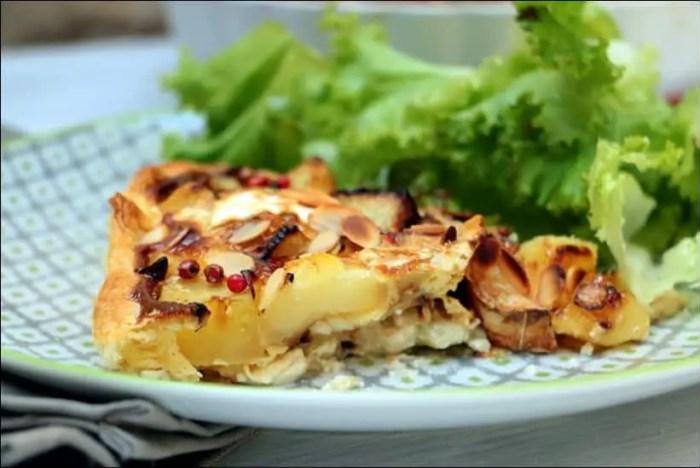 tarte au chèvre et pommes de terre