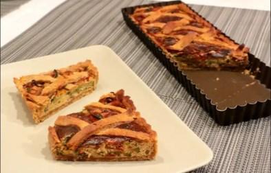 tarte aux courgettes et pignons de pin