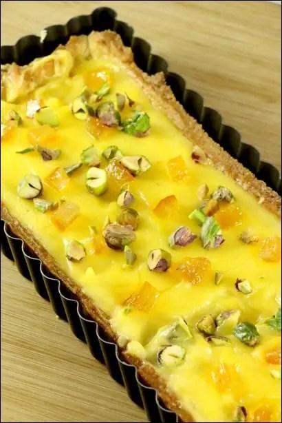 tarte orange pistache