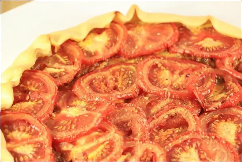 tarte au thon et tomates fait maison