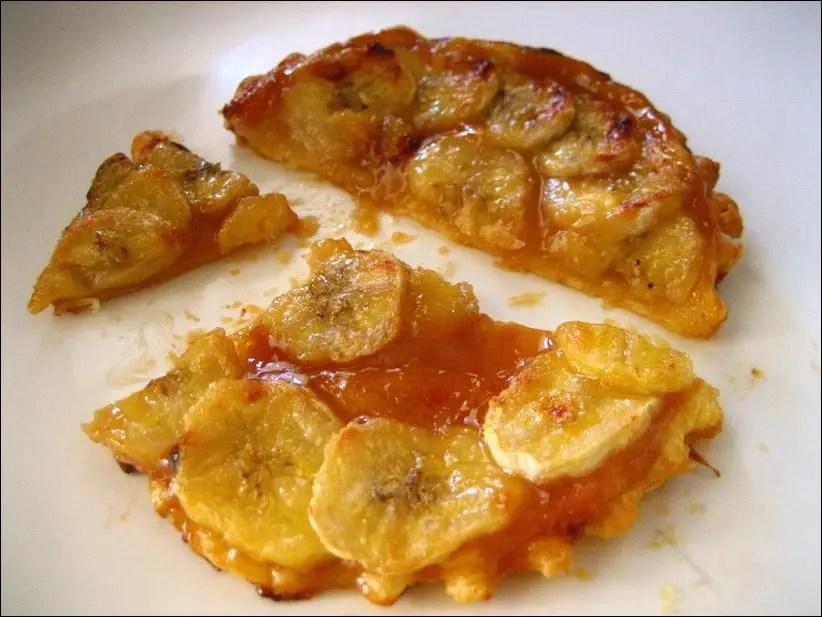 tarte banane caramel beurre salé