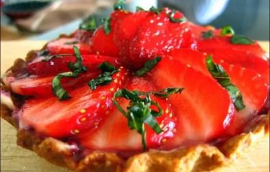 tarte aux fraises sur crème de lemon curd