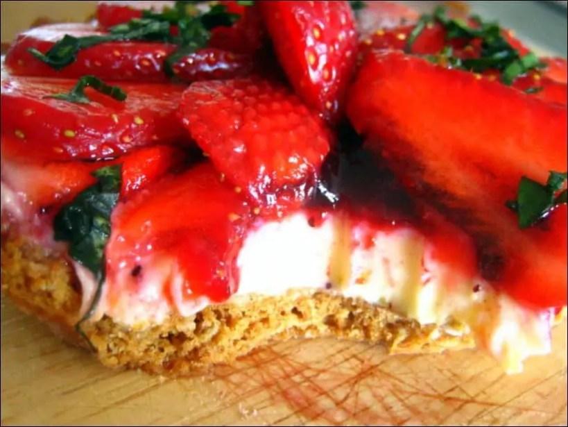 tarte à la fraise sans crème patissière