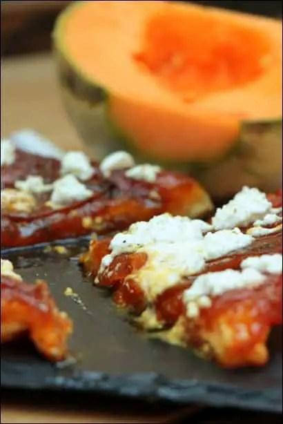 tatin de melon au chevre frais