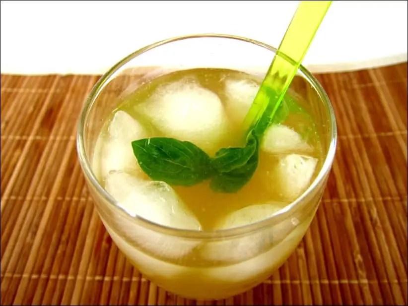 punch au thé vert basilic cardamome