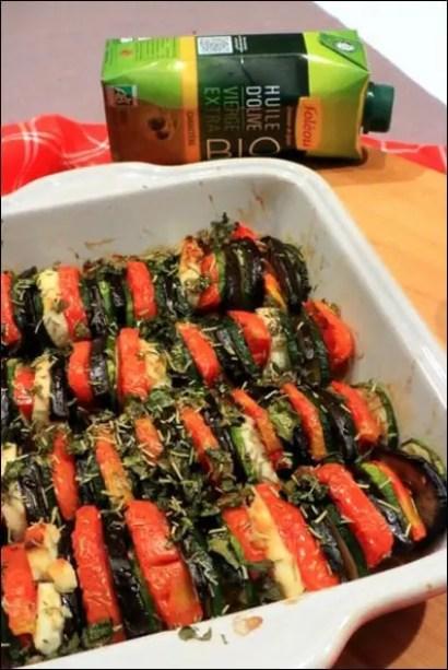 tian aubergines tomates chevre