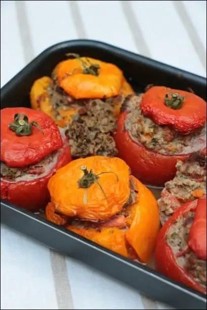 tomates farcies aux aubergines