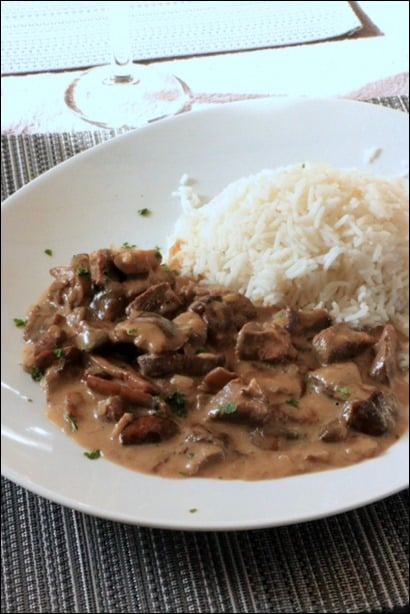 magret sauce champignon