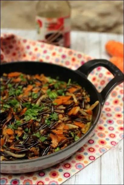 wok de riz sauté aux légumes