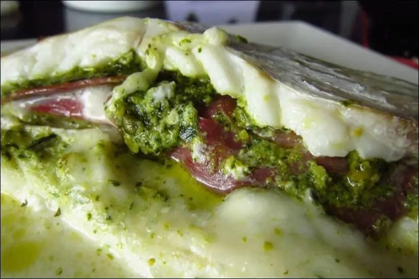 cabillaud coppa mozzarella