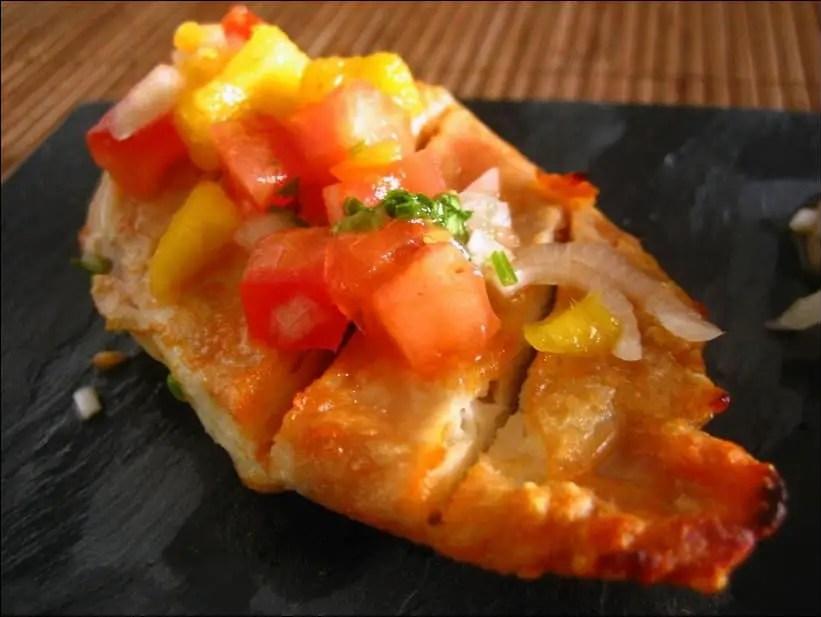 poulet salsa mangue