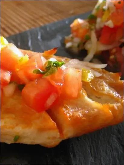 poulet et salsa a la mangue