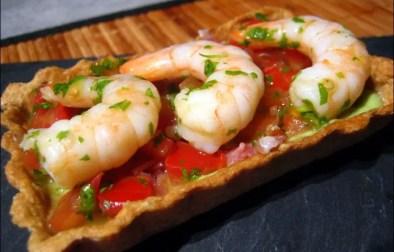 tartelettes de flocons d'avoine aux crevettes thaï