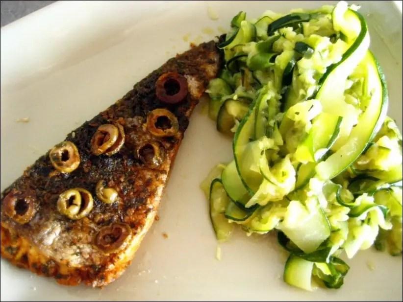 poisson aux olives au four