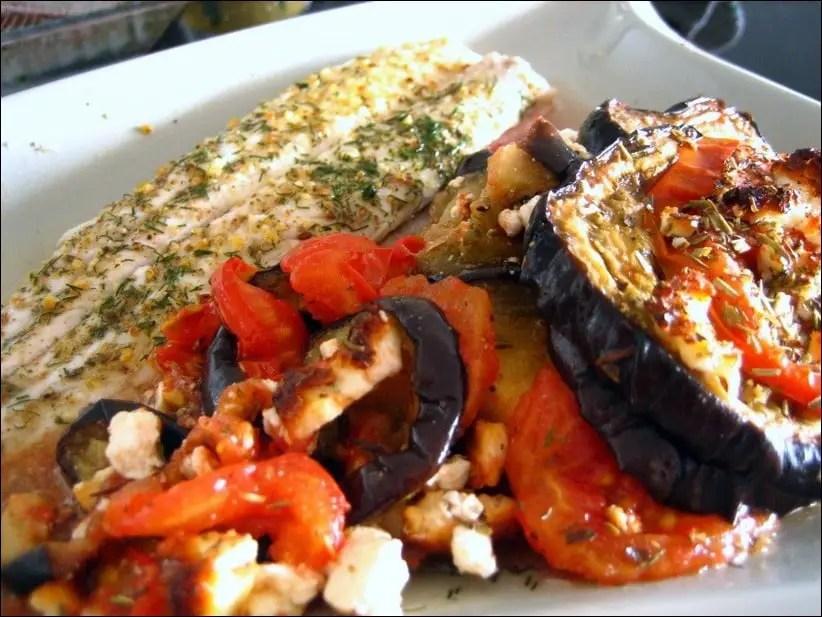 gratin tomate aubergine feta