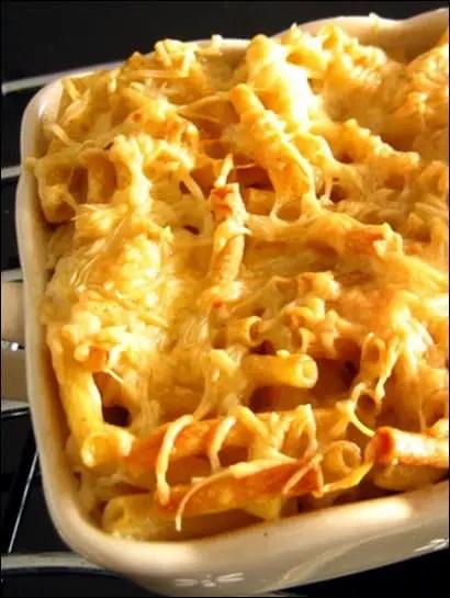 gratin macaroni sans bechamel