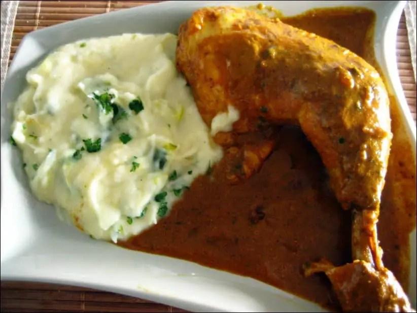 cuisses de poulet au lait de coco et aux épices