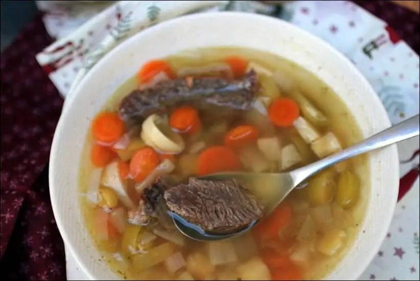 soupe boeuf carotte poireau