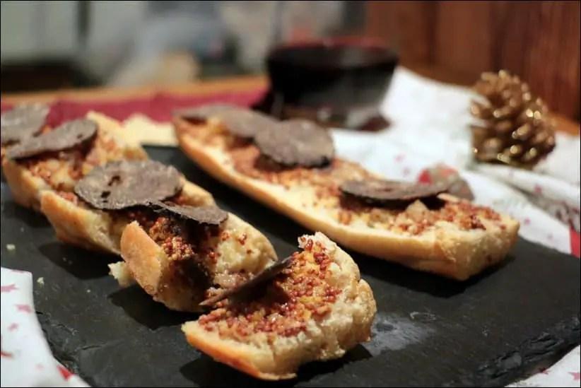 tartine moelle truffe