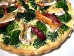 tarte brocolis camembert jambon cru