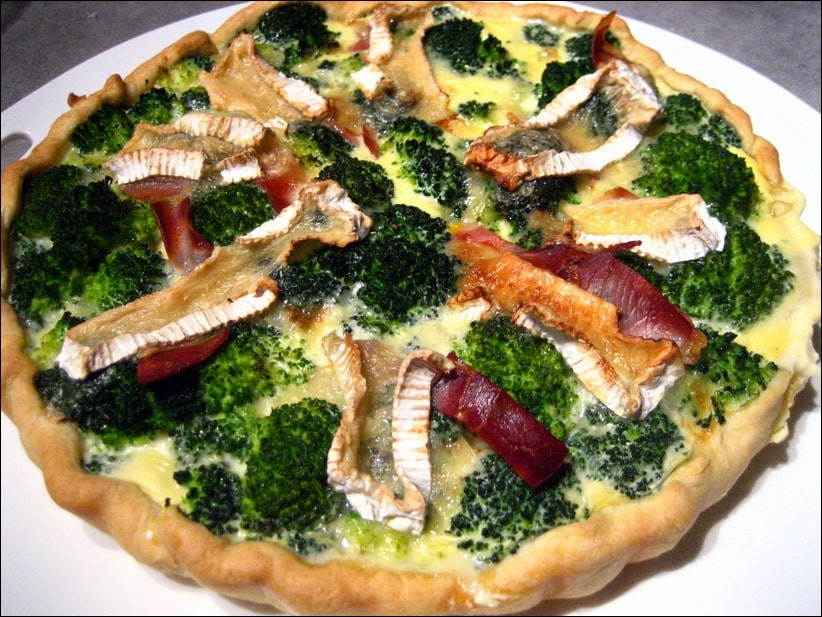 tarte au brocolis et au camembert