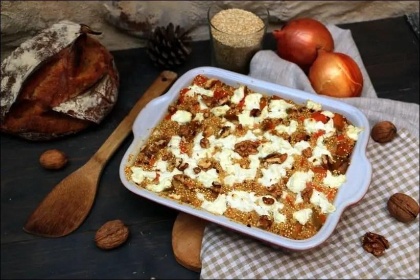 gratin quinoa chevre patate douce