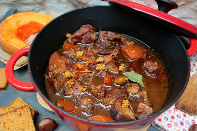 porc au cidre courge et marrons