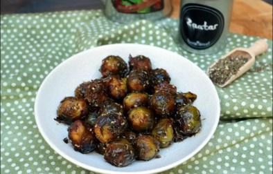 choux de bruxelles rôtis au zaatar et sauce soja