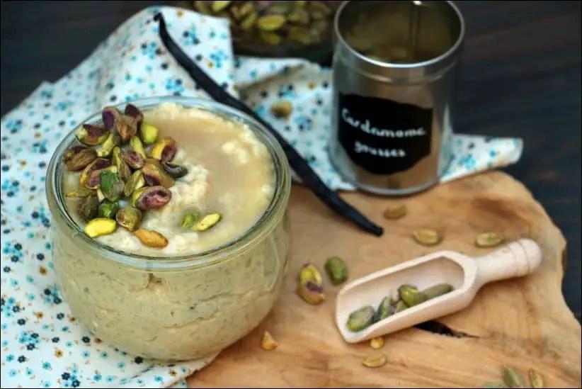 riz au lait à la cardamome pistaches et eau de rose de Yotam Ottolenghi