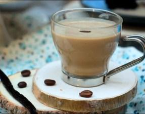 crème anglaise à la vanille et au café
