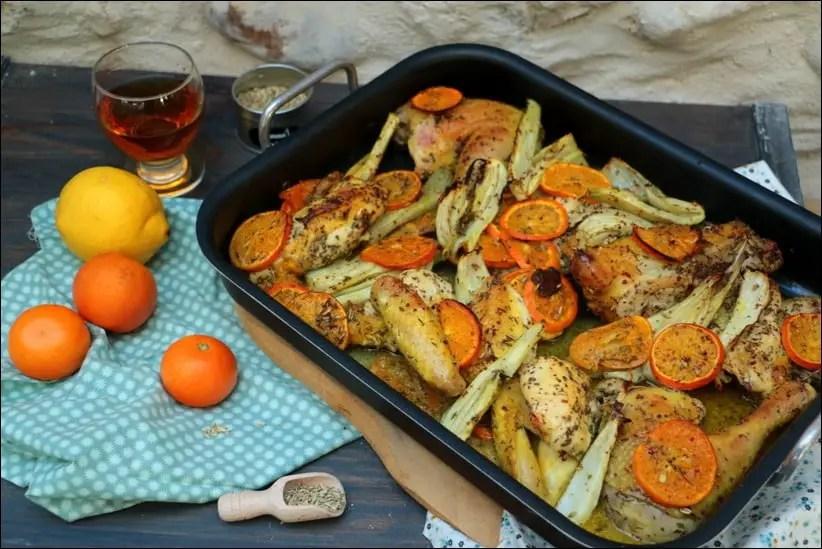 poulet fenouil et orange