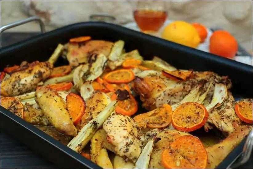poulet clementine au four