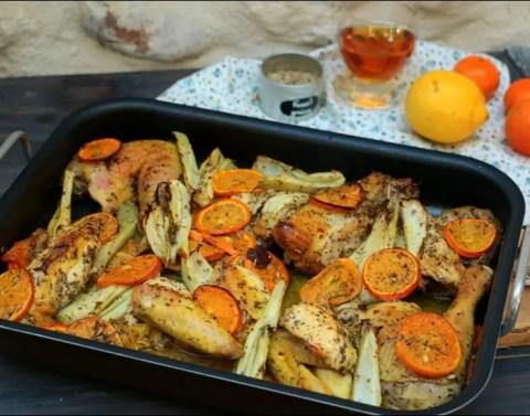 poulet roti aux clémentines et à l'arak de Yotam Ottolenghi