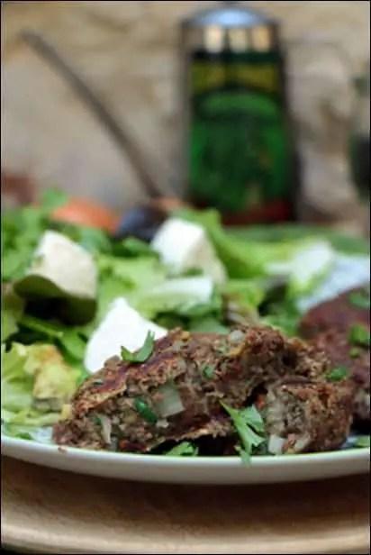 steak de lentilles avec oeuf