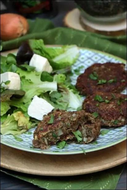 steak veggie lentilles