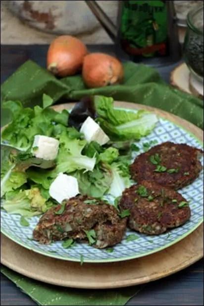 steak végétarien lentilles