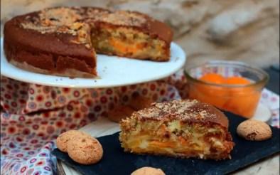 gâteau aux pêches au sirop et amaretti