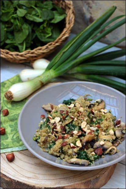 quinoa epinard recette