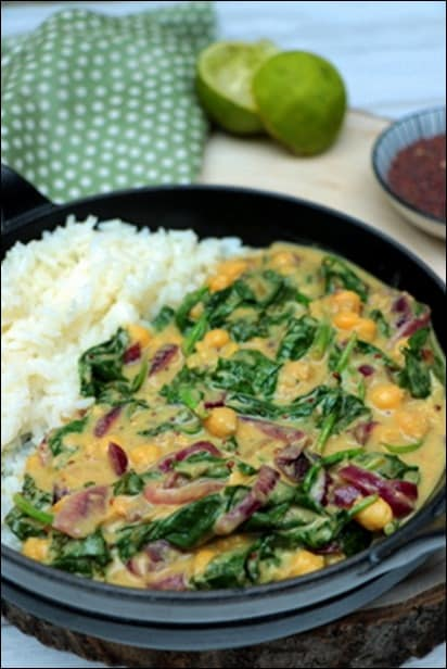 curry épinards pois chiches